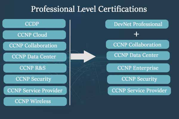 Professional level cisco certification