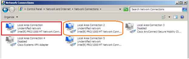 Configure network adapter on PC
