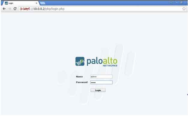 GUI of firewall Palo Alto 7