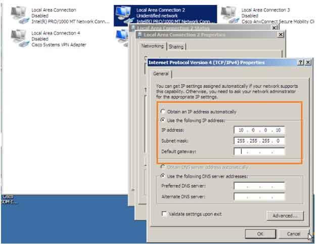IP address asignment