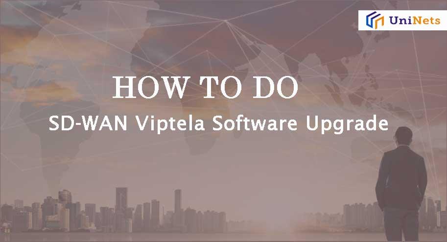 SD-WAN Viptela upgrade